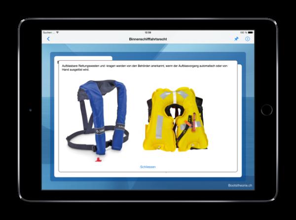 Alle aktuellen Prüfungsfragen für die Bootsprüfung 2017 lernen Sie schnell und effizient mit dem iPad und der App Bootstheorie.ch